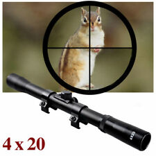 Air Rifle Airgun Gun Scope 4x20 TELESCOPIC SIGHT Fitted 9-11mm Mounts Rings RE