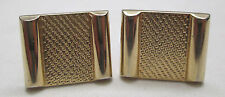 Vintage Cufflinks Signed Hickok USA Gold Tone Square Cuff Links