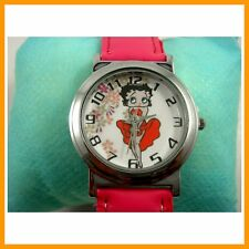 Sexy Betty Boop Boy Girl Child Fashion Pink Wrist Watch Wristwatch FREE SHIP