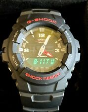 Casio G-shock Men's Watch G100-1BVWT Black And Red