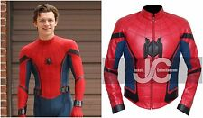 New Spider Man Homecoming Tom Holland (Peter Parker) Costume Leather Jacket