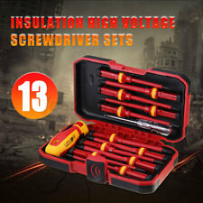 UK 13pcs Pro Electricians Insulated Electrical Hand Screwdriver Kit for 1000V