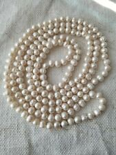 """Pearls Baroque White Long Strand Necklace 32"""" 1/4"""""""