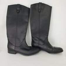 Frye & Co. Tania Womens Sz 8M Black Leather Pull-on Knee High Riding Boots