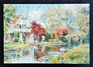 WENTWORTH THE BOATHOUSE BY ALFRED PARSONS 250 PIECE WOODEN JIGSAW PUZZLE COMPLET