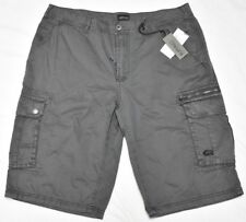 Buffalo David Bitton Shorts Men's Size 30 HEVART Cotton Cargo Shorts Grey N968