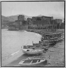 c1935 anonyme vue de COLLIOURE tirage argentique vintage print BRIVE CORREZE
