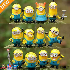 12pcs Cute Despicable Me 2 Minions Movie Character Figures Doll Toy Gift Tg007