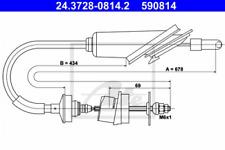 Seilzug, Kupplungsbetätigung für Kupplung ATE 24.3728-0814.2