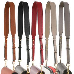 Adjustable Plain PU Leather Handbag Strap Bag Handle Replacement for Purse Totes