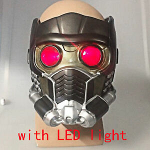 2017 Cosplay Guardians of the Galaxy Vol 2 Helmet Star Lord Helmet With LED New