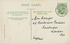 "2153 ""BELFAST / 1"" superb IRISH CDS (24 mm) on very fine picture postcard 1905"