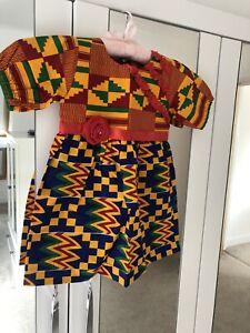 African Print Girls Dress Age 4-5 New Unworn . Beautiful