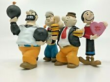 Rare Vintage 1989 Figures Popeye, Olive Oyl, Wimpy, Brutus/Bluto Set of 4   [06]