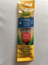 Crayola lavabile a due colori Penne Marker Set Di 3 COLORI COLORATE A DOPPIA PUNTA NUOVO