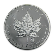 2004 Canada 1 oz Silver Maple Leaf Leo Zodiac Privy
