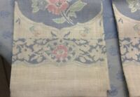 Vintage NEW American Sampler brand two linen tea towels. Never used, w/ tags