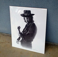 Stevie Ray Vaughan Poster Pencil Sketch Fender Stratocaster Guitar Limited SRV