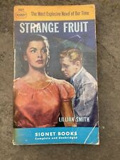 STRANGE FRUIT BY LILLIAN SMITH  1949   RARE SIGNET PULP ERA INTERRACIAL