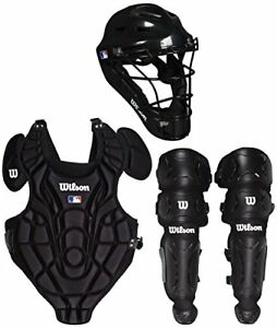 Wilson Youth Gear Catcher's Kit Pads Mask Helmet Large/ XL, 7-12 Years Baseball