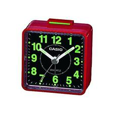 Casio TQ140 Highly Luminescent Beep Small Alarm Clock Beeper Tone Red/Black New