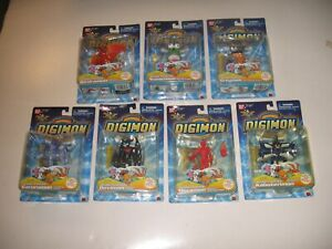"Amazing ""MINT!"" lot of -7- Digimon Action Figures Collectible Condition!"