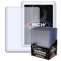 100 3x4 BCW 2 mm 79 pt. Topload Holders - Jersey/Memorabilia cards toploaders