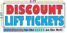 DISCOUNT LIFT TICKETS Banner Sign 4 Shop Resort Club Repair Machine Downhill SKI