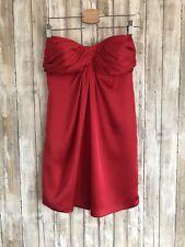 Carlos Miele Red Silk Flowy Strapless Cocktail Dress * 38 * CLASSIC!