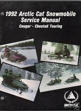 1992 ARCTIC CAT COUGAR-CHEETAH SERVICE  MANUAL