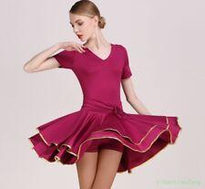 Women Dance Dress Mini Latin Tango Ballroom Sexy Costume Square Chic Short Skirt