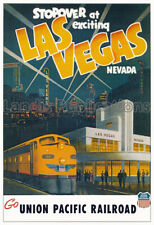 Las Vegas - Union Pacific Railroad 1950's Vintage Advertising Poster