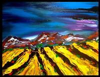 Landscape█ IMPRESSIONISM █PAINTING██MODERN█ORIGINAL█CANVAS█ART█unique█CANVAS