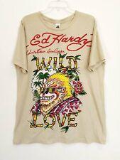 Ed Hardy Men Tee Shirt Tattoo Ape Hype beast Love Urban Grail fitted XL New $99