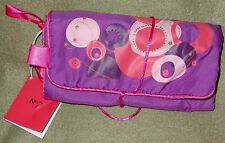 New Purple Boots No7 Lady's Fabric Make-Up Roll, Attractive & Practical 12x7.5""