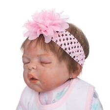 """23"""" Realistic Sleeping Reborn Baby Doll Lifelike Silicone Vinyl Girl Pink Outfit"""
