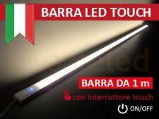 Barra Led Touch Alluminio Sotto Pensile Cucina, ON/OFF chip SAMSUNG Luce CALDA