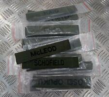 Original Britischer Nato Militär Brust / Device Id Patch Verschiedene Namen Neu