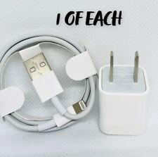 APPLE Lightning to USB Cable + 5W USB Power Adapter 1 OF EACH!