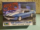 REVELL+MOTOR+CITY+MUSCLE+%E2%80%9869+CAMARO+Z%2F28+RS%2C+1%2F25+SCALE+MODEL+KIT+FACTORY+SEALED