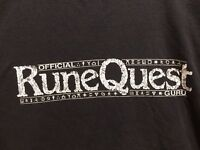 RARE 1990's Vintage Official RuneQuest Guru T Shirt USA Role Playing Game D&D