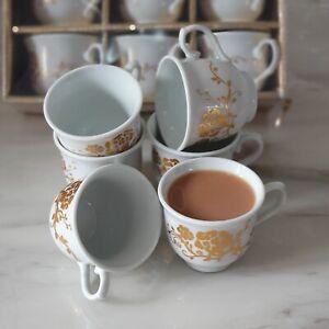 12 Designer Arabic Turkish Greek Tea Coffee Espresso Serving Small Cups 70ML