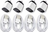 4x Wall Charger Adapter For iPhone 5 6s 7 8 6FT USB Data Sync Charger Charging