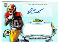 2015 Topps Finest AUTOGRAPH JUMBO RELIC REFRACTOR JAMISON CROWDER RC AUTO