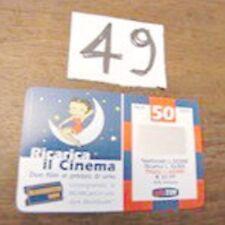 ricarica TIM Il Cinema Betty Boop validità sett 2001 49