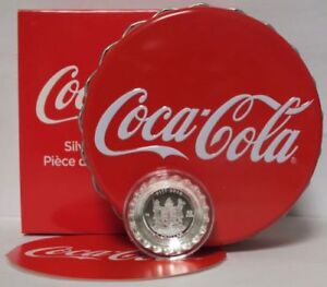 2018 Coca-Cola Collectible Bottle Cap Shaped 6g .999 Silver Proof $1 Coin Fiji