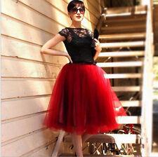 Women Girls Short Tulle Tutu A line Skirt Knee Length Prom Ballet Dress Fashion