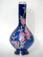 Vintage Krautheim Veyhl Vase Silver Overlay Silber Dekor Porzellan um 1945