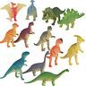 12pcs Plastic Dinosaur Model Set Colorful Simulation Dinosaurs Mini Animal Toys