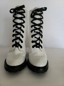 Marc Jacobs Patent Leather Mid-Calf Combat Boots Size 39  US 8
